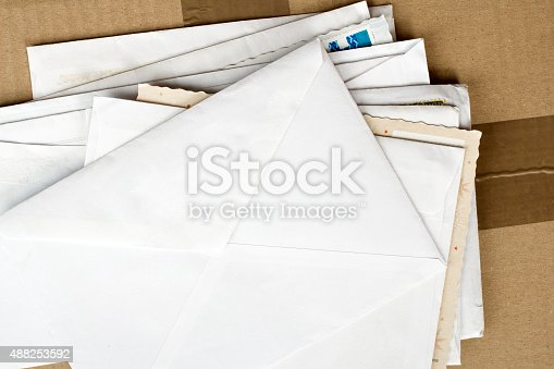 istock pile of letters and postal parcel 488253592