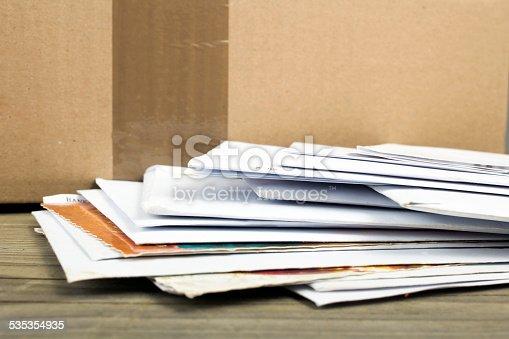 istock pile of letters and postal parcel 535354935