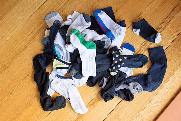 Pile of Lost Socks stock photo