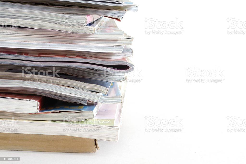 Pile of magazines royalty-free stock photo