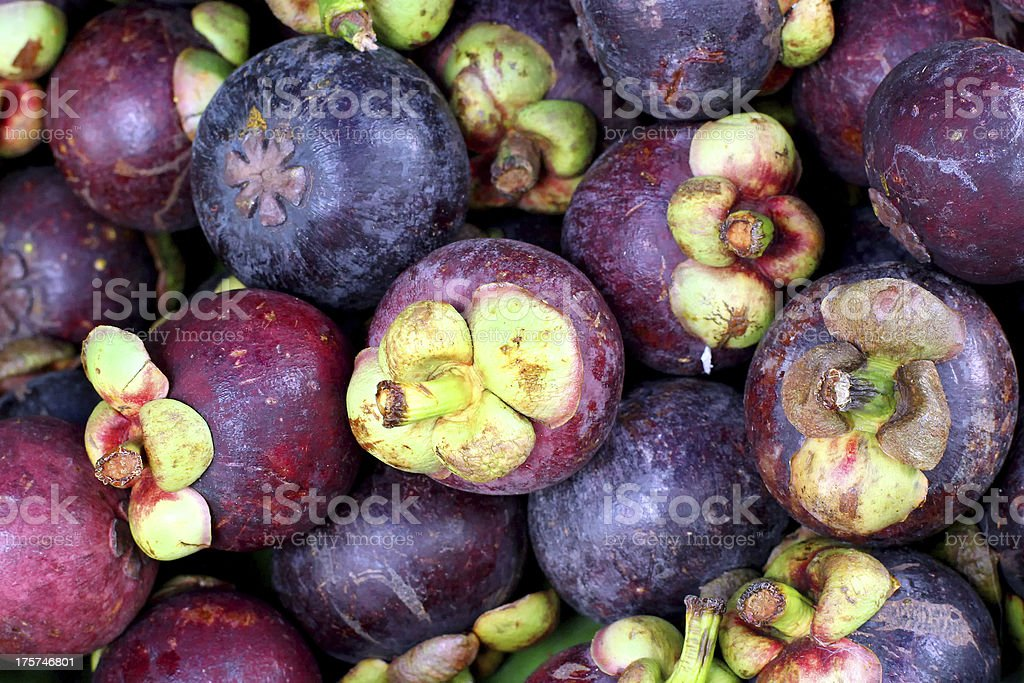Pile of Mangosteen as background royalty-free stock photo