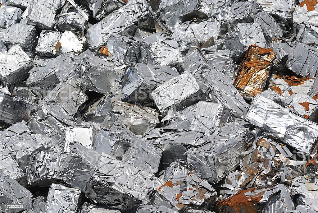 Pile of metal ready to be recycled. royalty-free stock photo