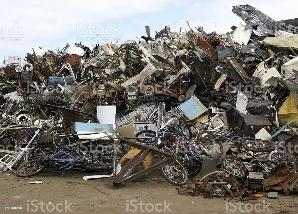 Pile of Metal Trash royalty-free stock photo