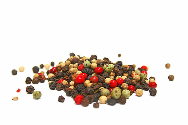 Pile of Mixed Gourmet Peppercorns Blend stock photo