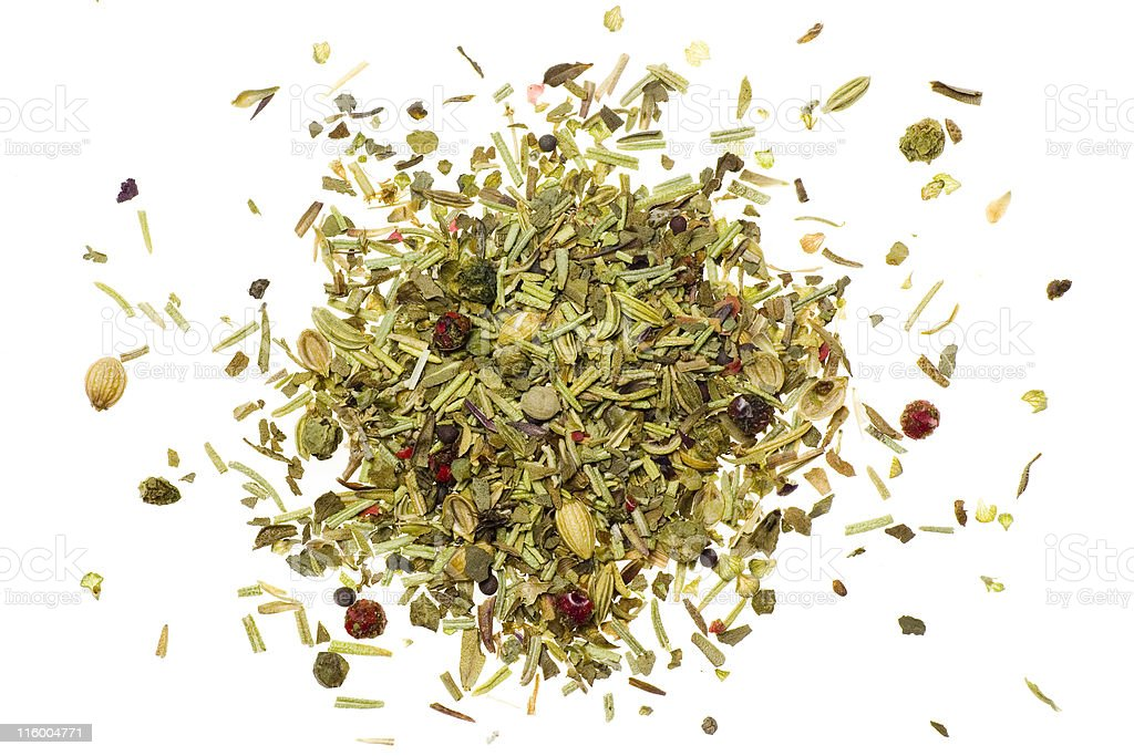 Pile of mixed herbs royalty-free stock photo