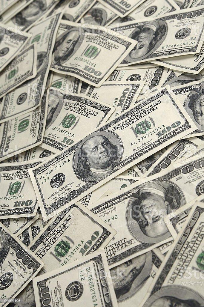 Pile of Money Background stock photo
