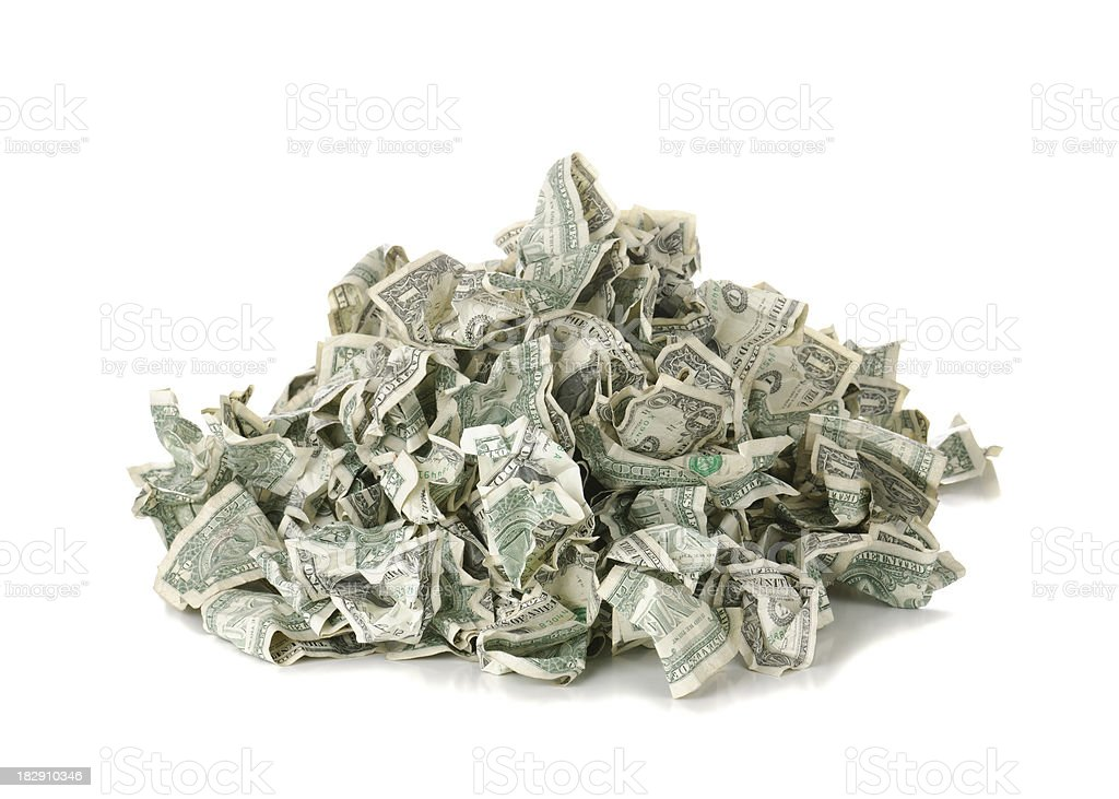 Pile of Money royalty-free stock photo