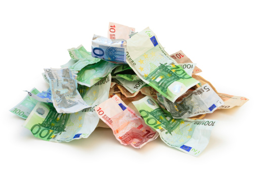 European currency isolated on white.