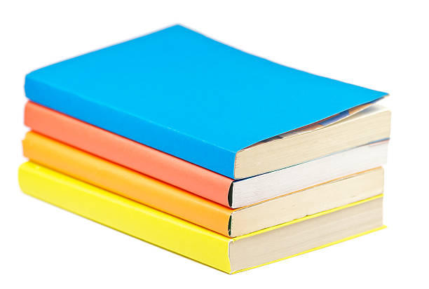 Pile of Multicolored Books stock photo