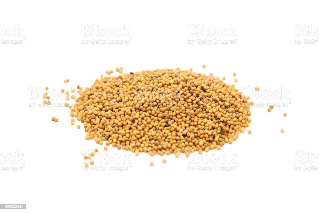 Högen av senapsfrön - Royaltyfri Aromaterapi Bildbanksbilder