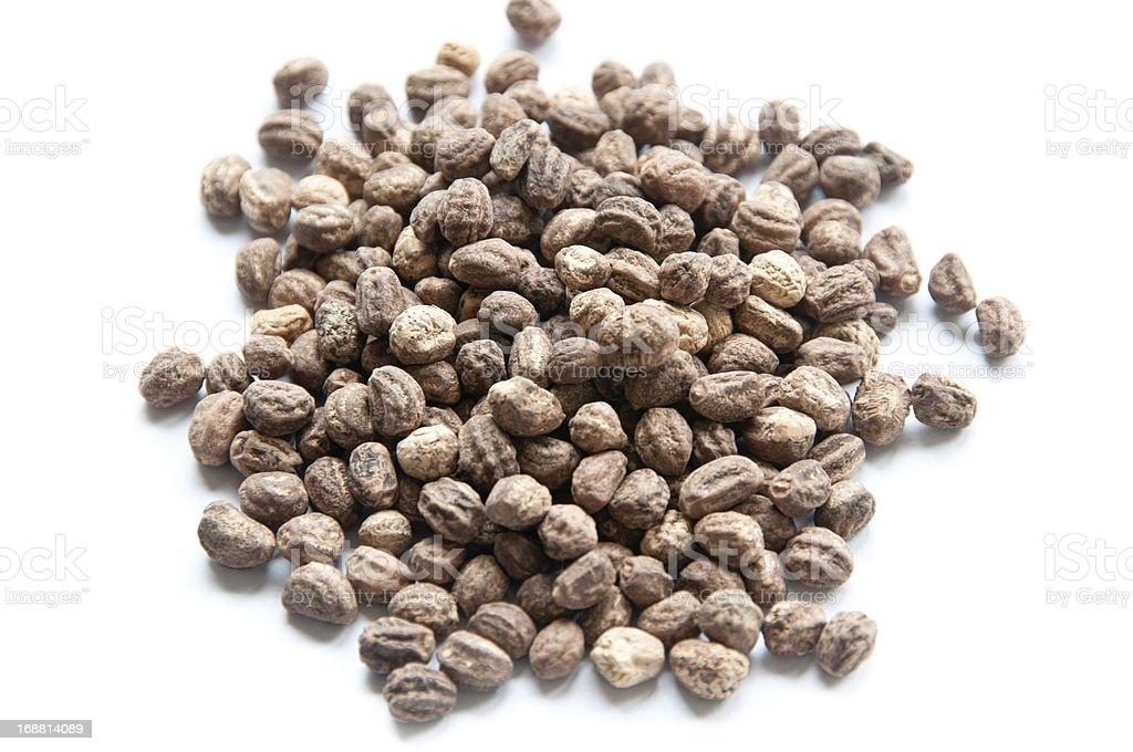 Pile of nasturtium seeds royalty-free stock photo