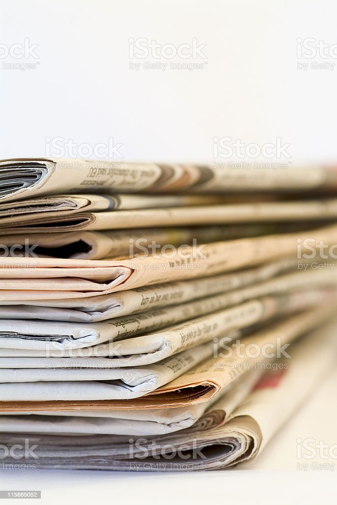 Pile of newspapers 03 royalty-free stock photo