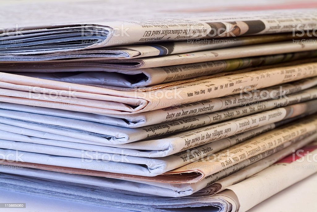 Pile of newspapers 04 royalty-free stock photo