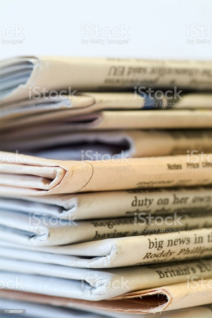 Pile of newspapers 05 royalty-free stock photo