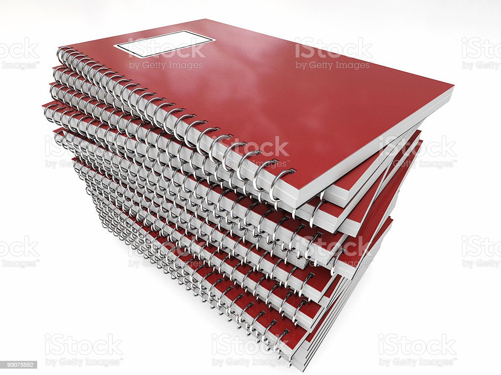 pile of notebook royalty-free stock photo