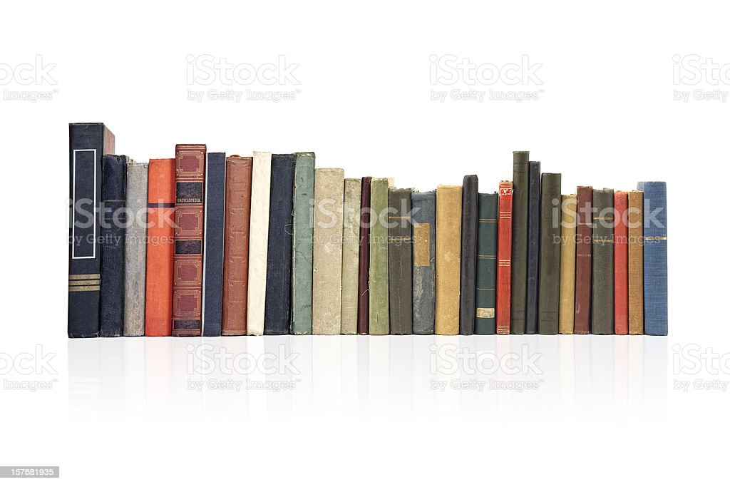 Pile of Old Antique Books stock photo
