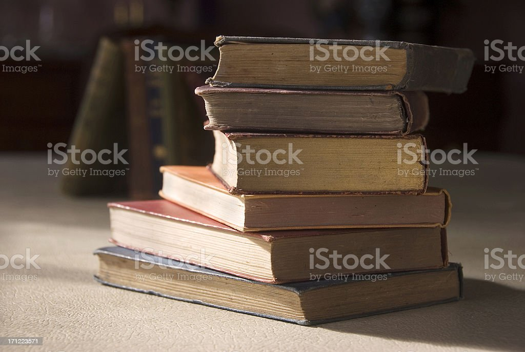 Pile of old books royalty-free stock photo
