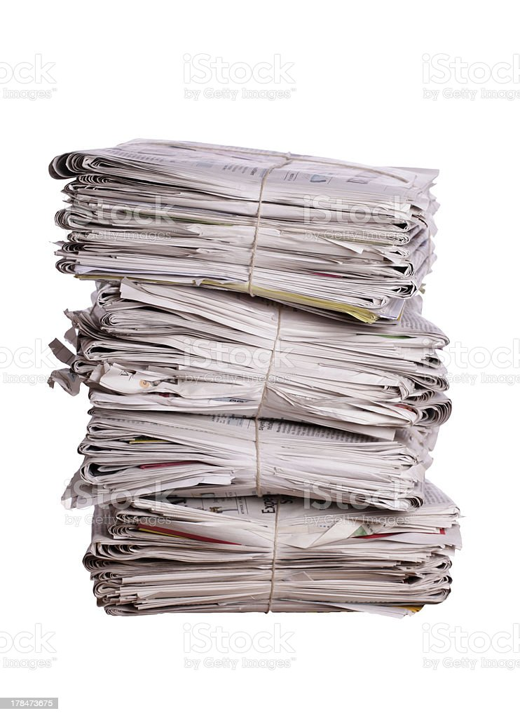 pile of old newspapers royalty-free stock photo