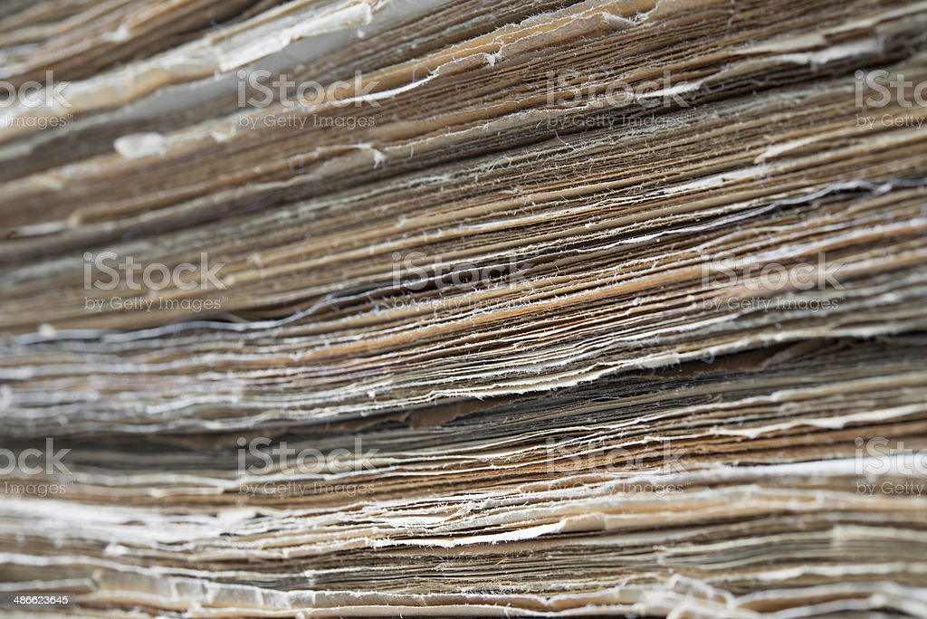 Pile of Old Papers royalty-free stock photo