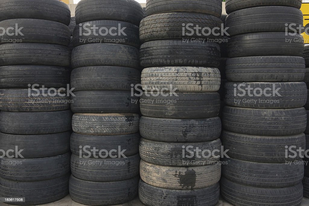 pile of old tires royalty-free stock photo