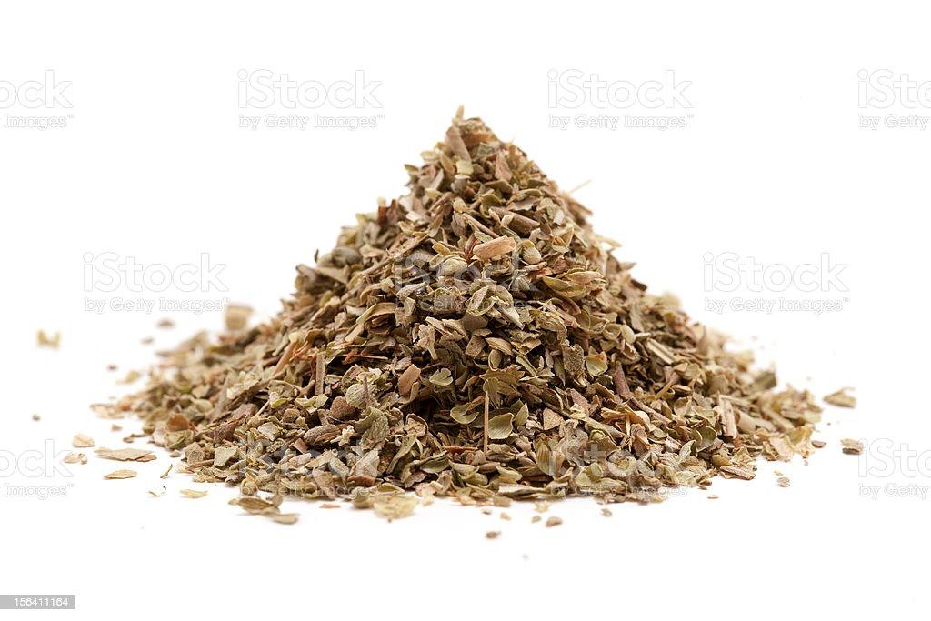 pile of oregano isolated on white royalty-free stock photo