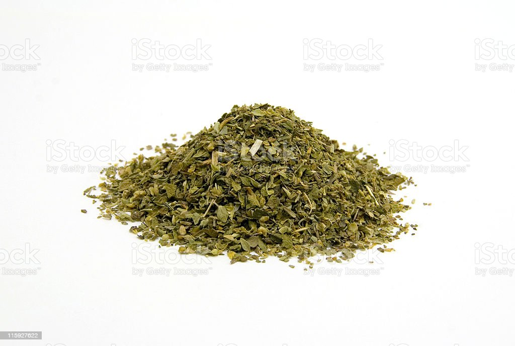 Pile of Oregano Leaves stock photo