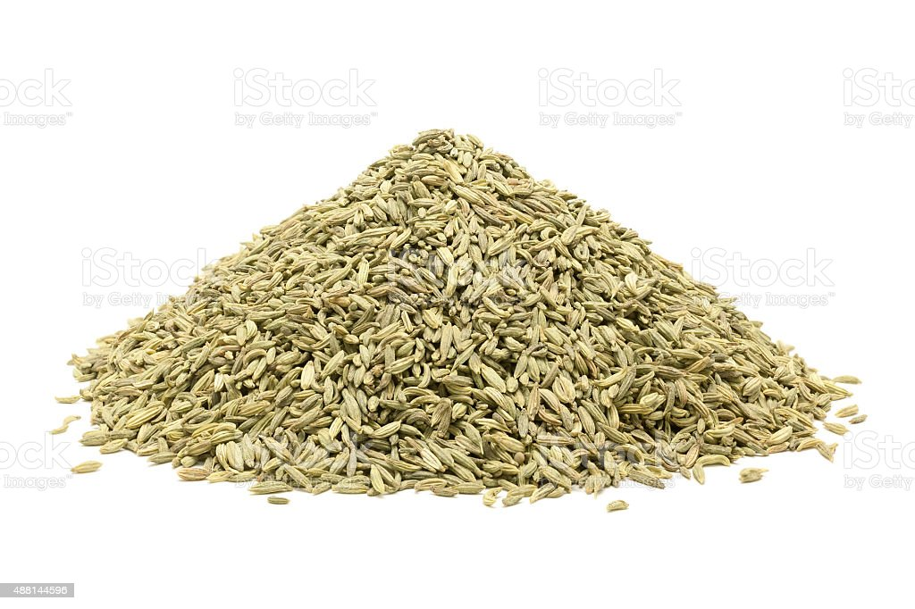 Pile of Organic Aniseed. stock photo
