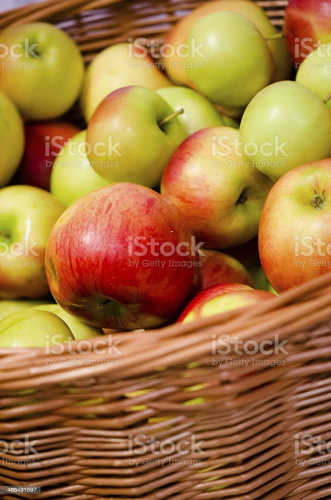 pile of organic apples royalty-free stock photo