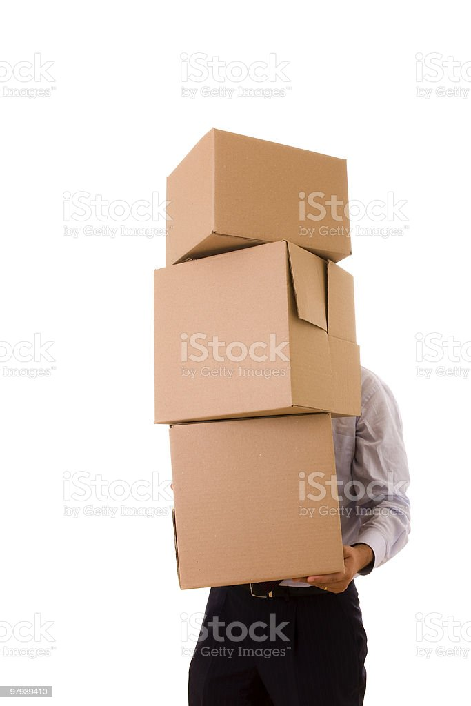 pile of pakage parcels royalty-free stock photo