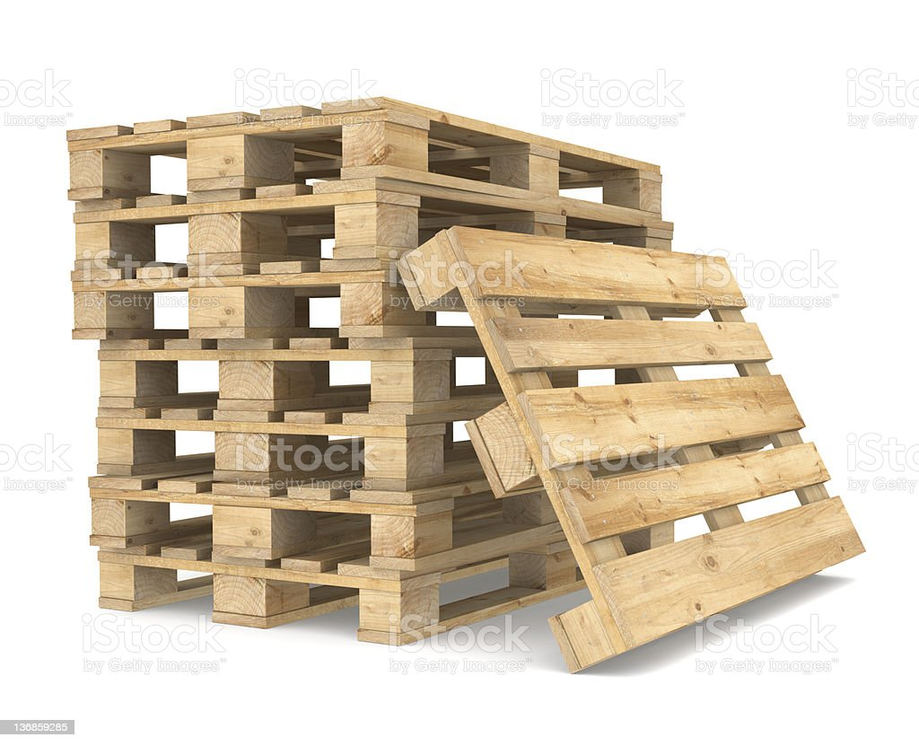 Pile of Pallets. stock photo