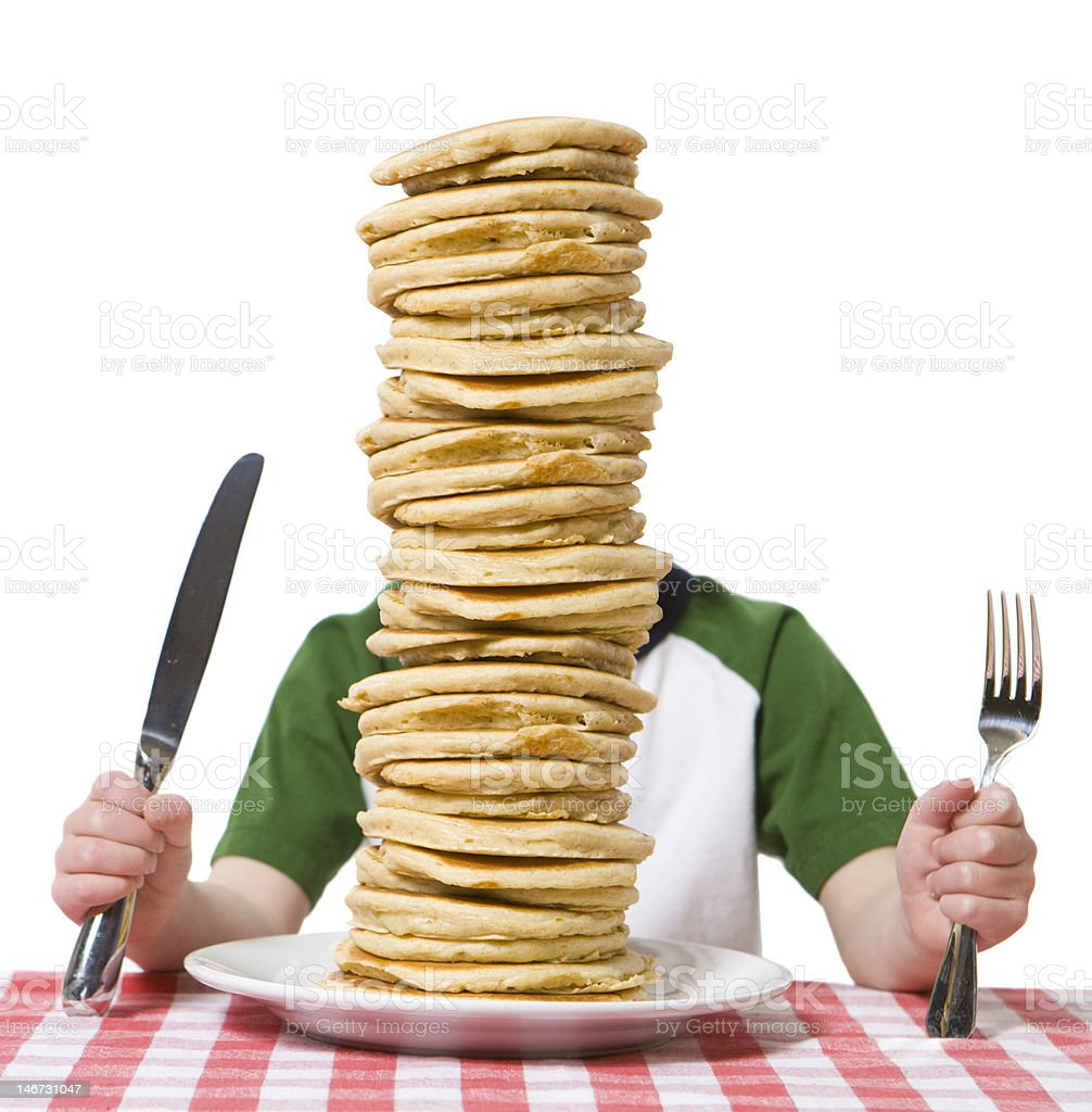 Pile of Pancakes stock photo
