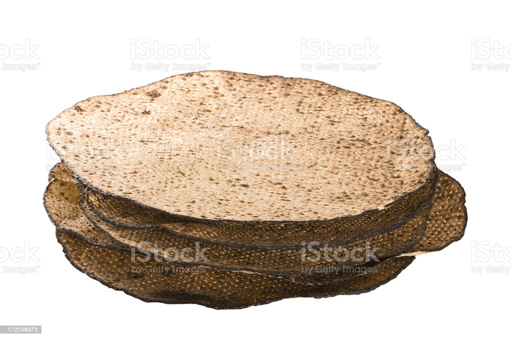 Pile of passover matzas royalty-free stock photo