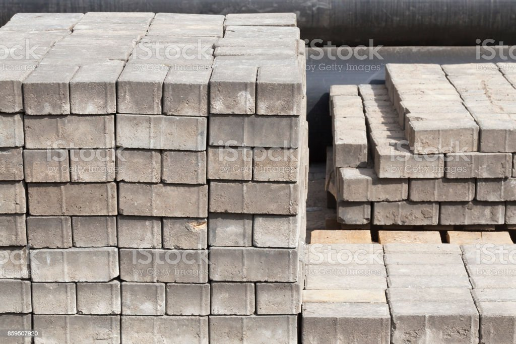 pile of paving slabs. stock photo
