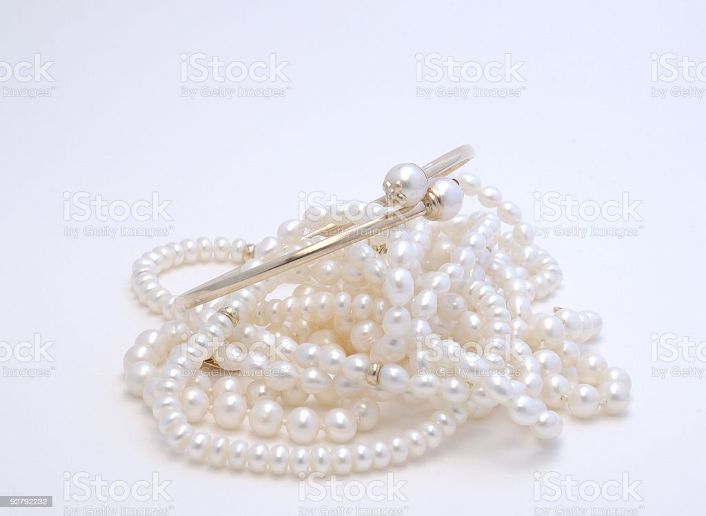 Pile of Pearls stock photo