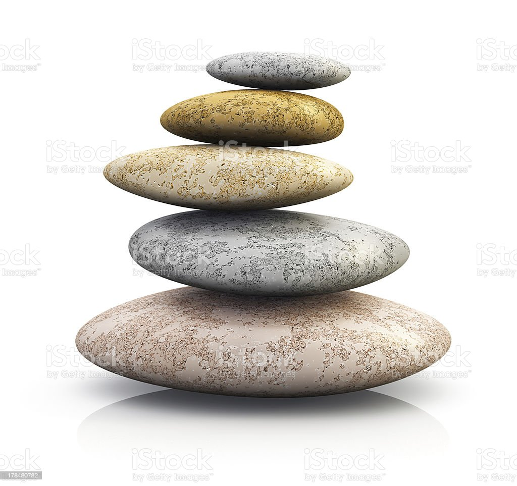 Pile of pebbles for spa therapy royalty-free stock photo
