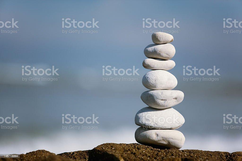 Pile of peebles stone stock photo