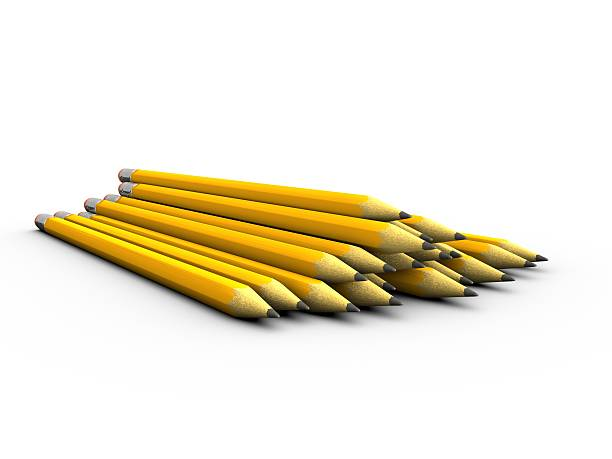 Pile of Pencils stock photo