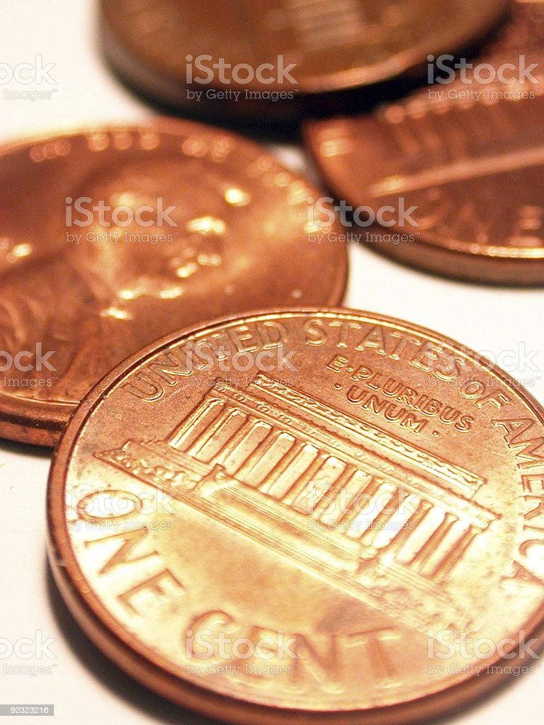 Pile of Pennies royalty-free stock photo