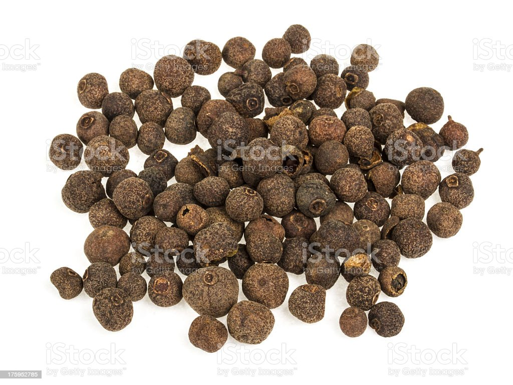 Pile of pepper seeds isolated on white background royalty-free stock photo