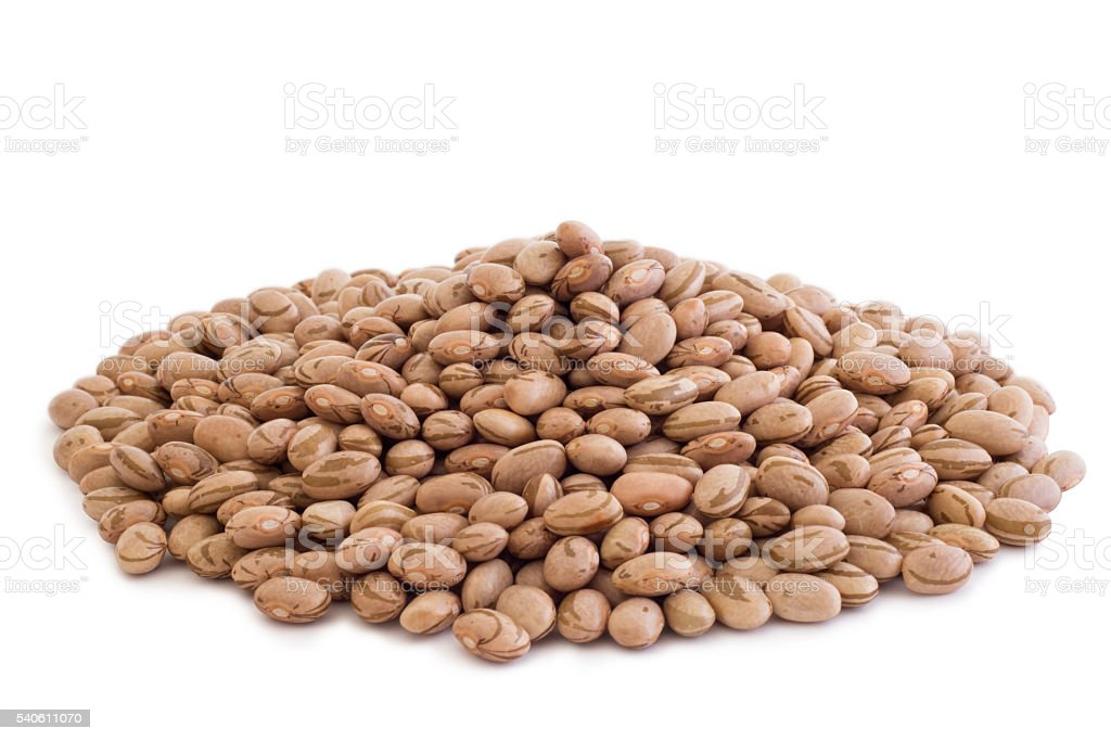 Pile of Pinto Beans stock photo
