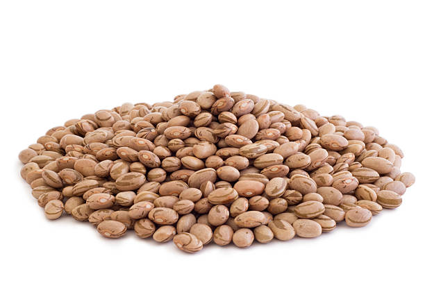 pile of pinto beans - bean stock photos and pictures