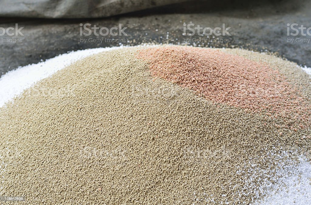 Pile of plant chemical fertilizer royalty-free stock photo
