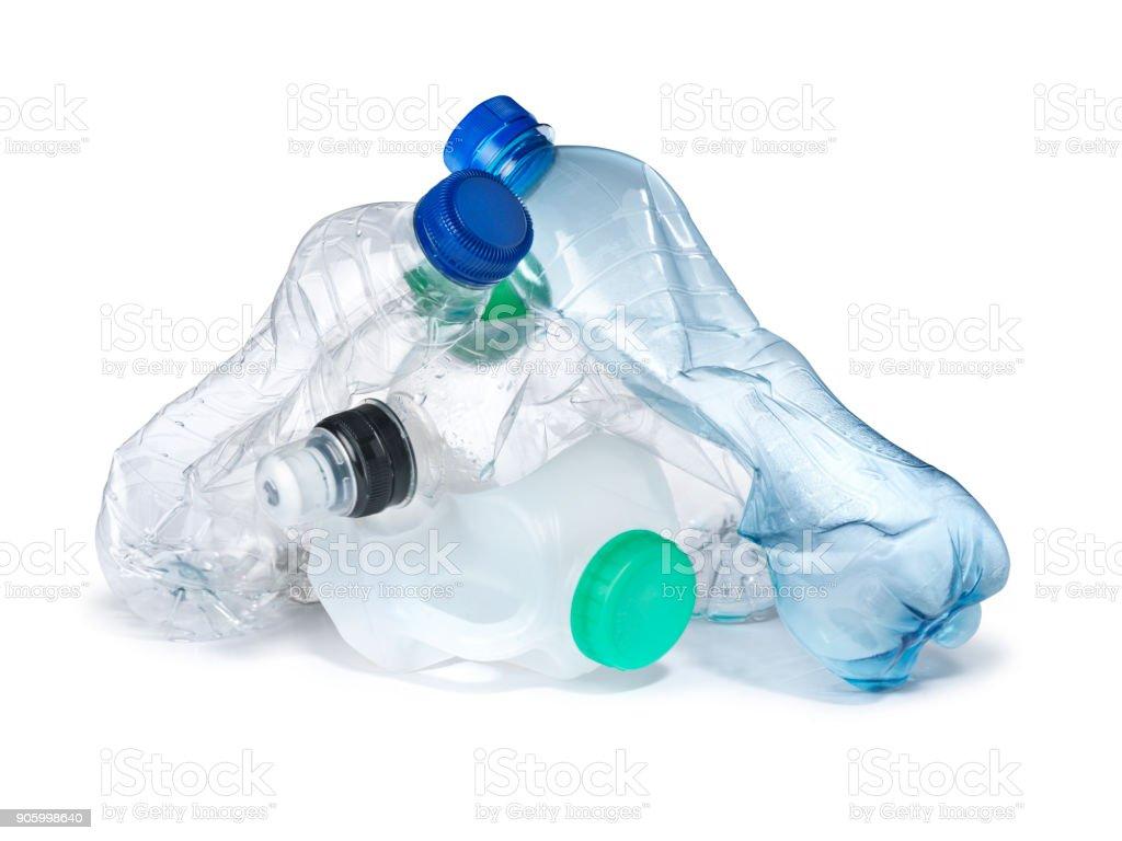 tas de décharge de déchets de bouteilles en plastique - Photo