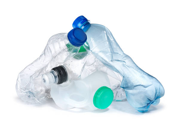 pile of plastic bottles garbage landfill - plastic cap stock pictures, royalty-free photos & images