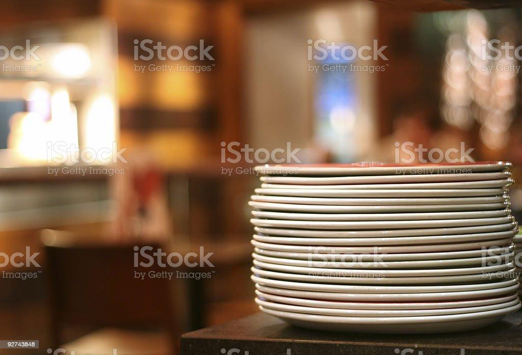 Haufen von Tellern Lizenzfreies stock-foto