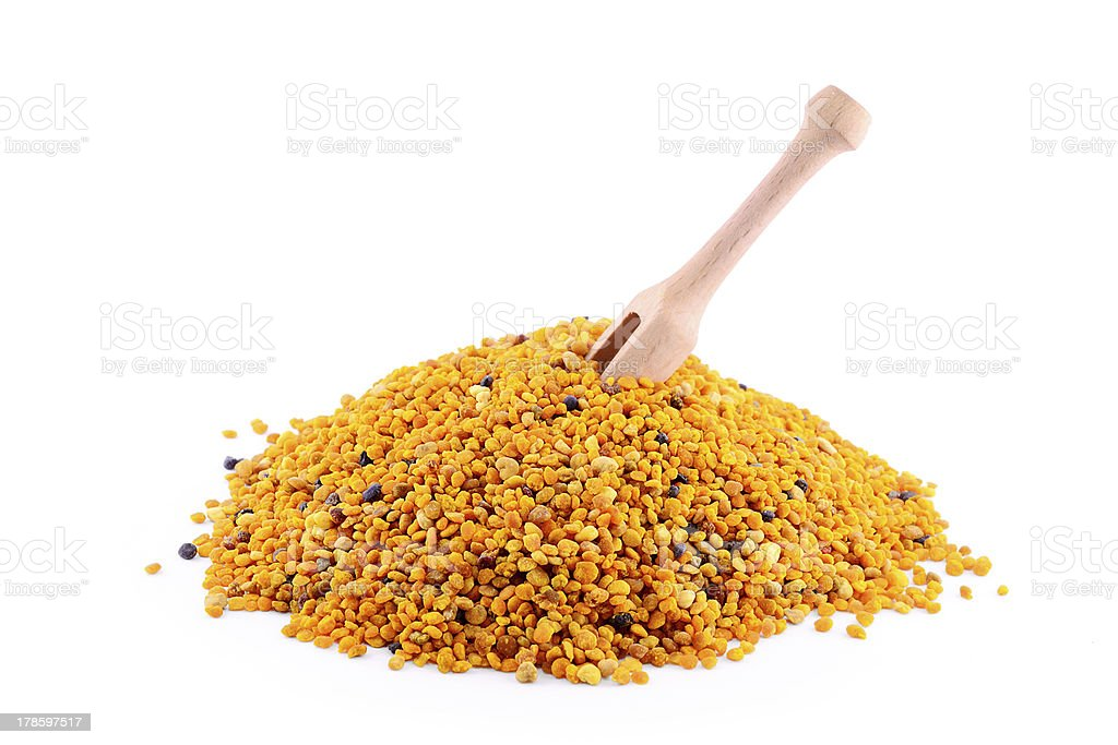 Pile of pollen royalty-free stock photo