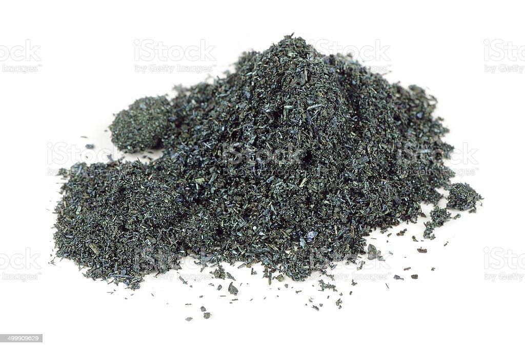 Pile of Potassium Permanganate Isolated on White Background stock photo
