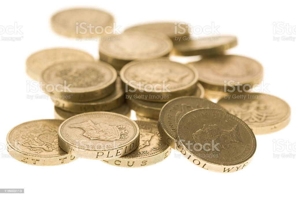 Pile Of Pounds royalty-free stock photo