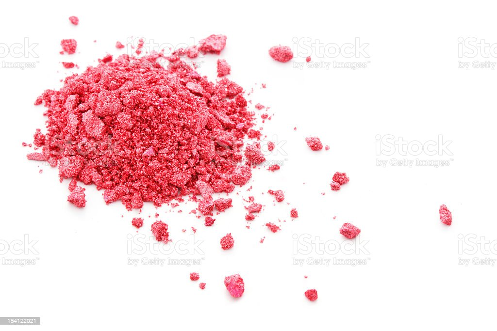 A pile of powdered pink eye shadow royalty-free stock photo