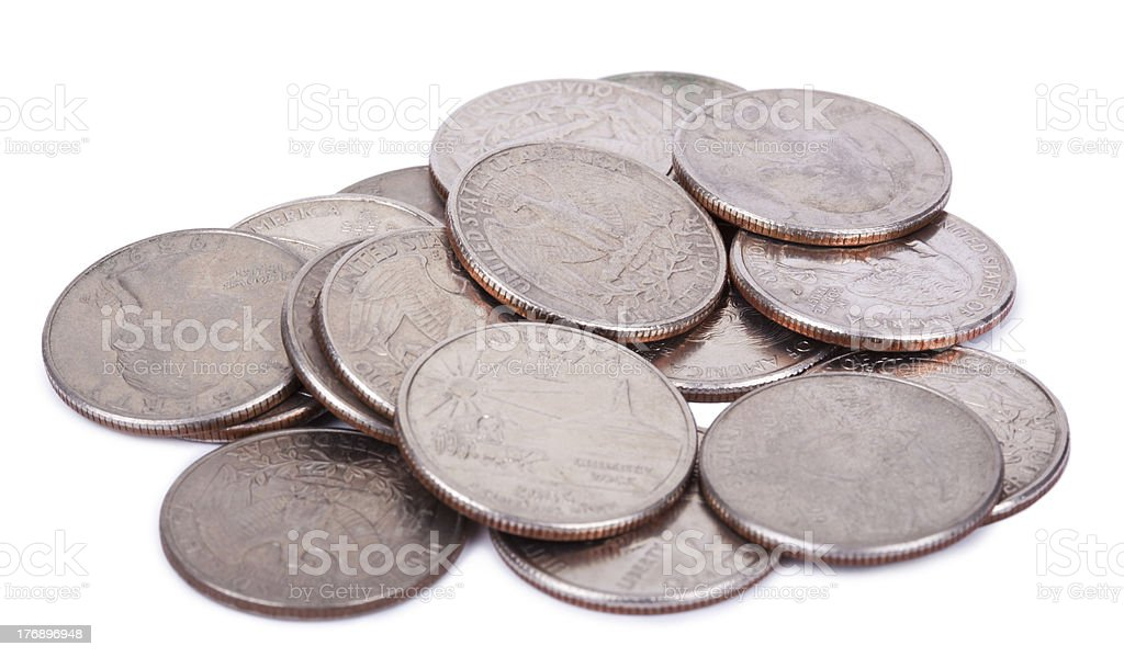 Pile of Quarters royalty-free stock photo